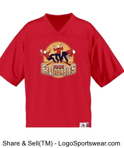 Red Shirt Jersey Design Zoom